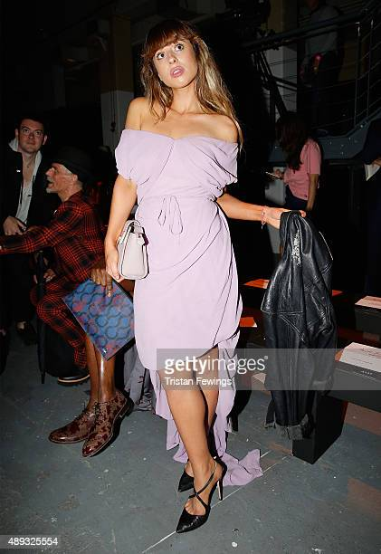 Singer Foxes attends the Vivienne Westwood Red Label show during London Fashion Week Spring/Summer 2016 on September 20 2015 in London England