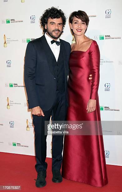 Singer Francesco Renga and wife actress Ambra Angiolini attend 2013 Premi David di Donatello Ceremony Awards at Dear RAI Studios on June 14 2013 in...