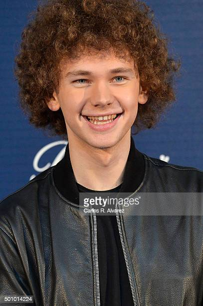 Singer Francesco Yates attends the 40 Principales Awards 2015 photocall at the Barclaycard Center on December 11 2015 in Madrid Spain