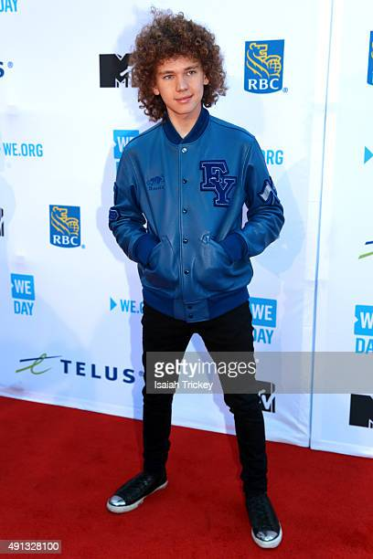 Singer Francesco Yates attends WE Day Toronto at the Air Canada Centre on October 1 2015 in Toronto Canada