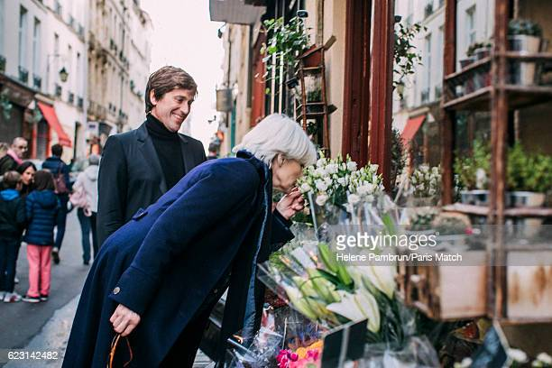 Singer Francoise Hardy and Thomas Dutronc are photographed for Paris Match on November 1 2016 in Paris France