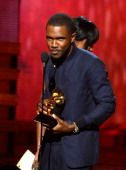 Singer Frank Ocean accepts Best Urban Contemporary Album award for 'Channel Orange' onstage at the 55th Annual GRAMMY Awards at Staples Center on...