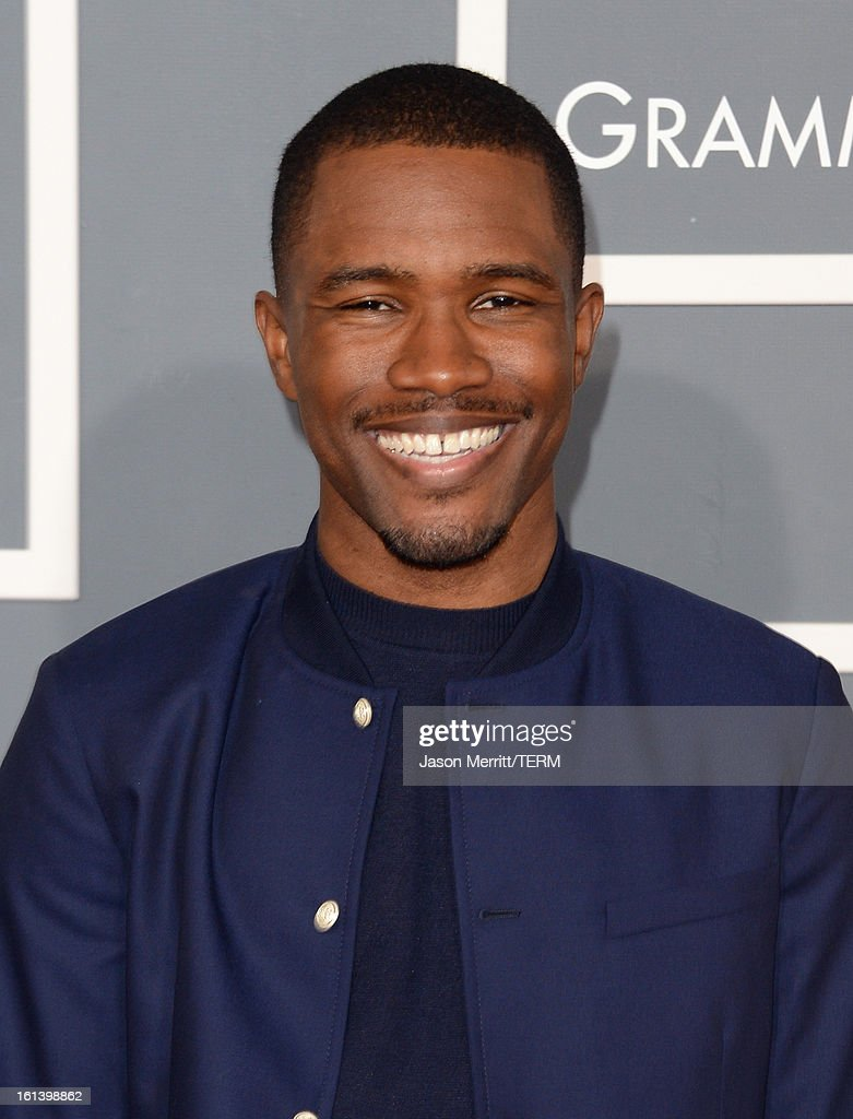 Singer <a gi-track='captionPersonalityLinkClicked' href=/galleries/search?phrase=Frank+Ocean&family=editorial&specificpeople=7657747 ng-click='$event.stopPropagation()'>Frank Ocean</a> arrives at the 55th Annual GRAMMY Awards at Staples Center on February 10, 2013 in Los Angeles, California.