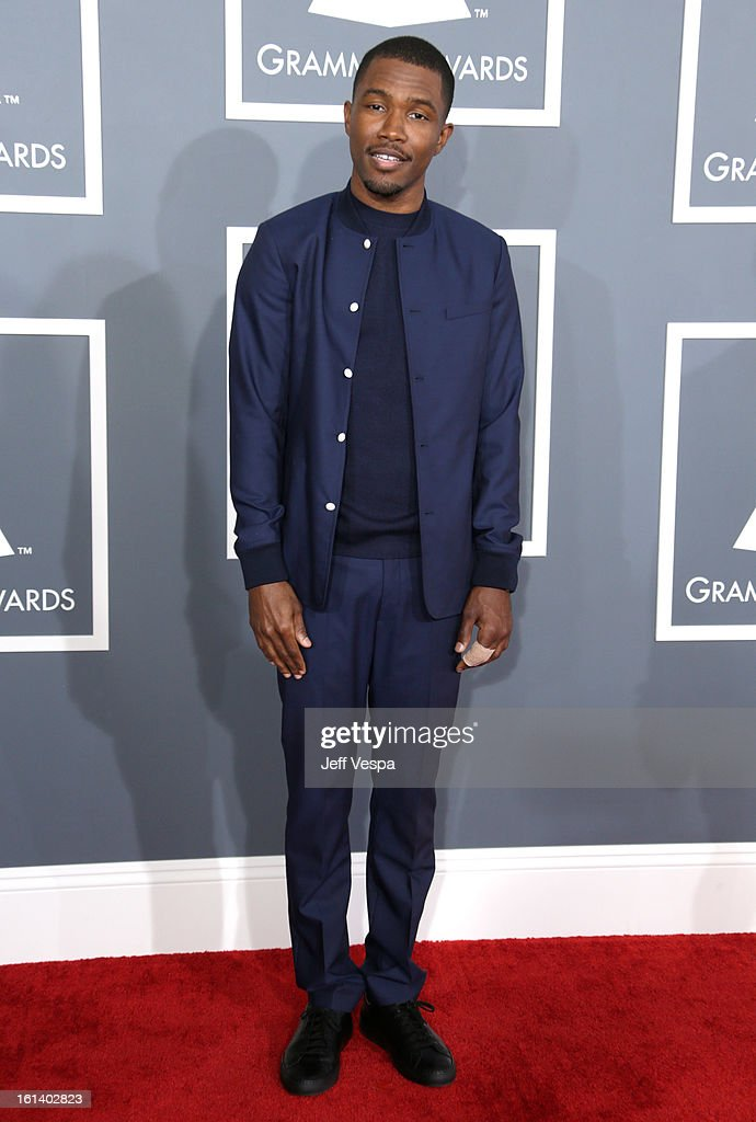 Singer Frank Ocean attends the 55th Annual GRAMMY Awards at STAPLES Center on February 10 2013 in Los Angeles California