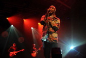 Singer Frank Ocean performs All Tomorrow's Parties Festival Day 1 at Pier 36 on September 21 2012 in New York City