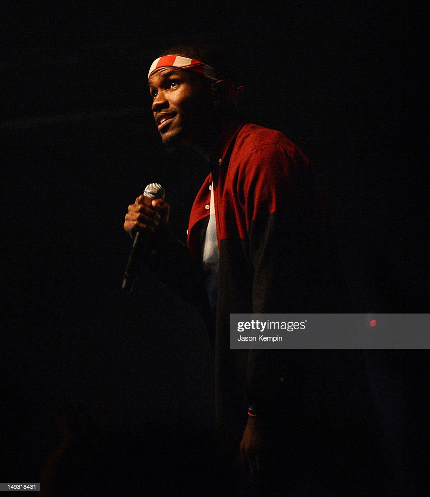 Singer <a gi-track='captionPersonalityLinkClicked' href=/galleries/search?phrase=Frank+Ocean&family=editorial&specificpeople=7657747 ng-click='$event.stopPropagation()'>Frank Ocean</a> performs at Terminal 5 on July 26, 2012 in New York City.