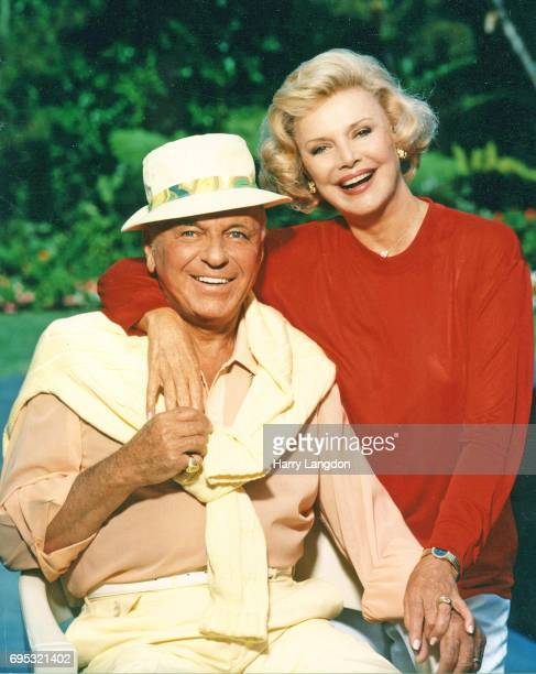 Singer Frank Sinatra and Barbara Sinatra pose for a portrait in 1990 in Los Angeles California