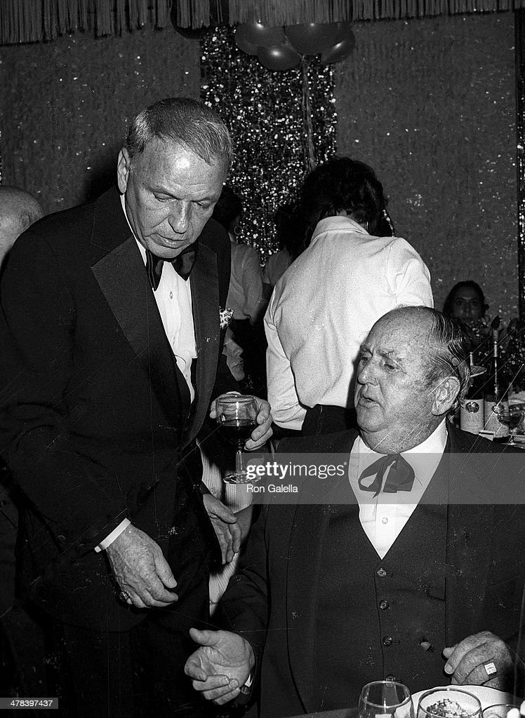 Singer Frank Sinatra and Colonel Tom Parker attend Frank Sinatra Hosts 'A Valentine LoveIn Frank His Friends His Food' Gala to Benefit the Desert...