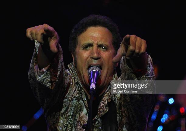 Singer Frank Stallone brother of Sylvester performs on stage in concert at The Forum Theatre on August 18 2010 in Melbourne Australia Stallone had a...