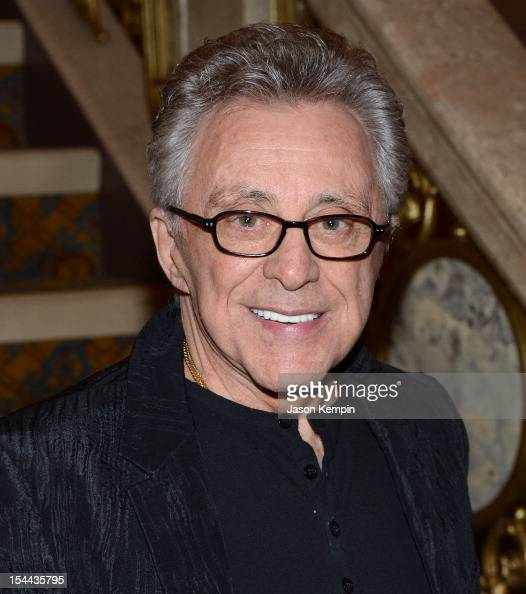 Singer Frankie Valli attends the Frankie Valli And The Four Seasons 50th Anniversary Celebration event at the Broadway Theatre on October 19 2012 in...