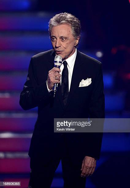 Singer Frankie Valli performs onstage during Fox's 'American Idol 2013' Finale Results Show at Nokia Theatre LA Live on May 16 2013 in Los Angeles...