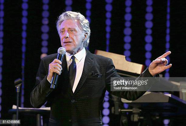 Singer Frankie Valli performs onstage during the Venice Family Clinic Silver Circle Gala 2016 honoring Brett Ratner and Bill Flumenbaum at The...