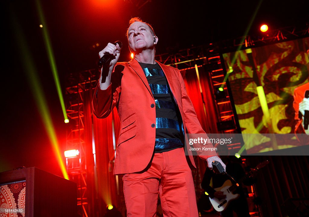 Singer Fred Schneider of the B-52s performs onstage at the 55th Annual GRAMMY Awards after party at the Los Angeles Convention Center on February 10, 2013 in Los Angeles, California.