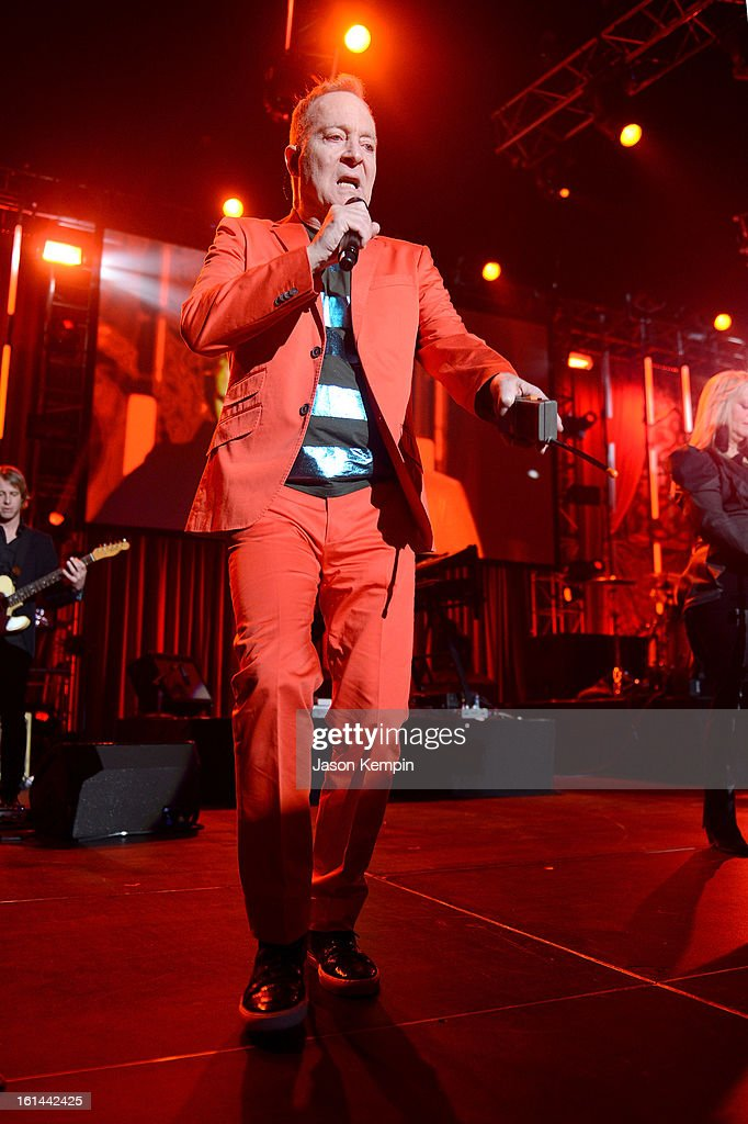 Singer Fred Schneider of the B-52s performs onstage the 55th Annual GRAMMY Awards at the Los Angeles Convention Center on February 10, 2013 in Los Angeles, California.