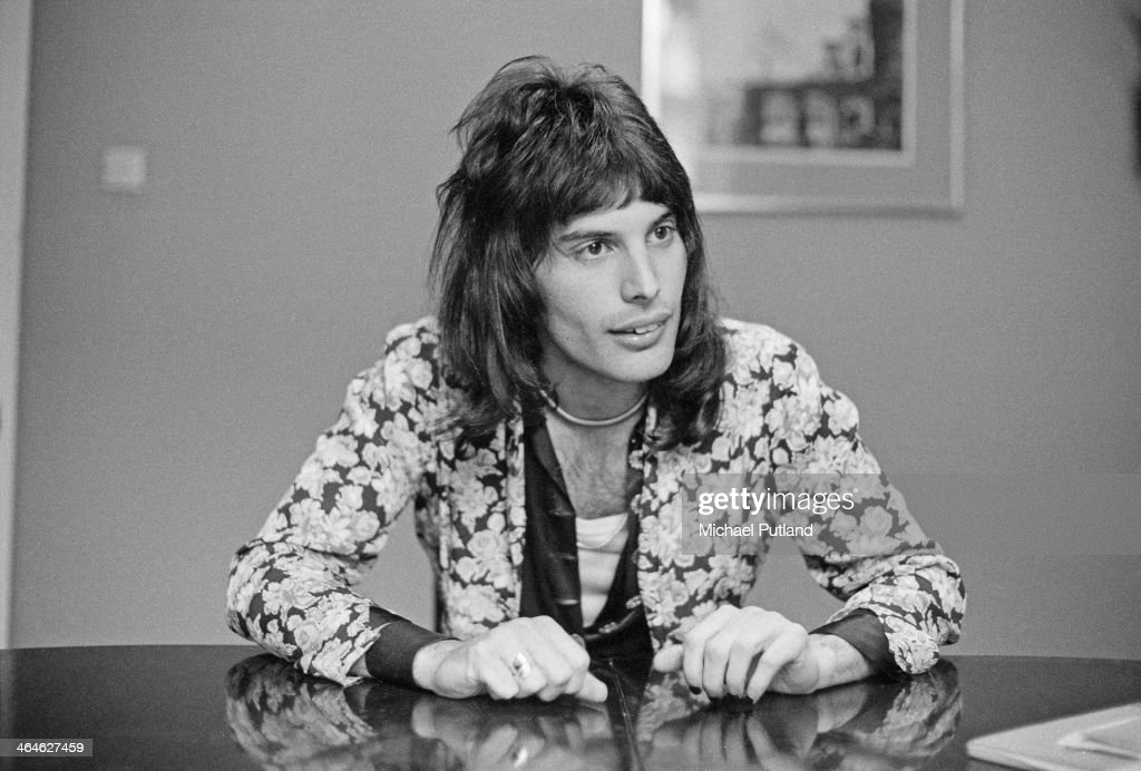 Singer Freddie Mercury of British rock group Queen 12th February 1974