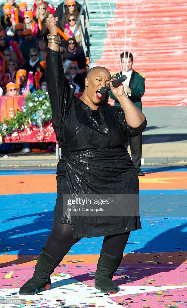 Singer Frenchie Davis attends the 93rd annual Dunkin' Donuts Thanksgiving Day Parade on November 22, 2012 in Philadelphia, Pennsylvania.