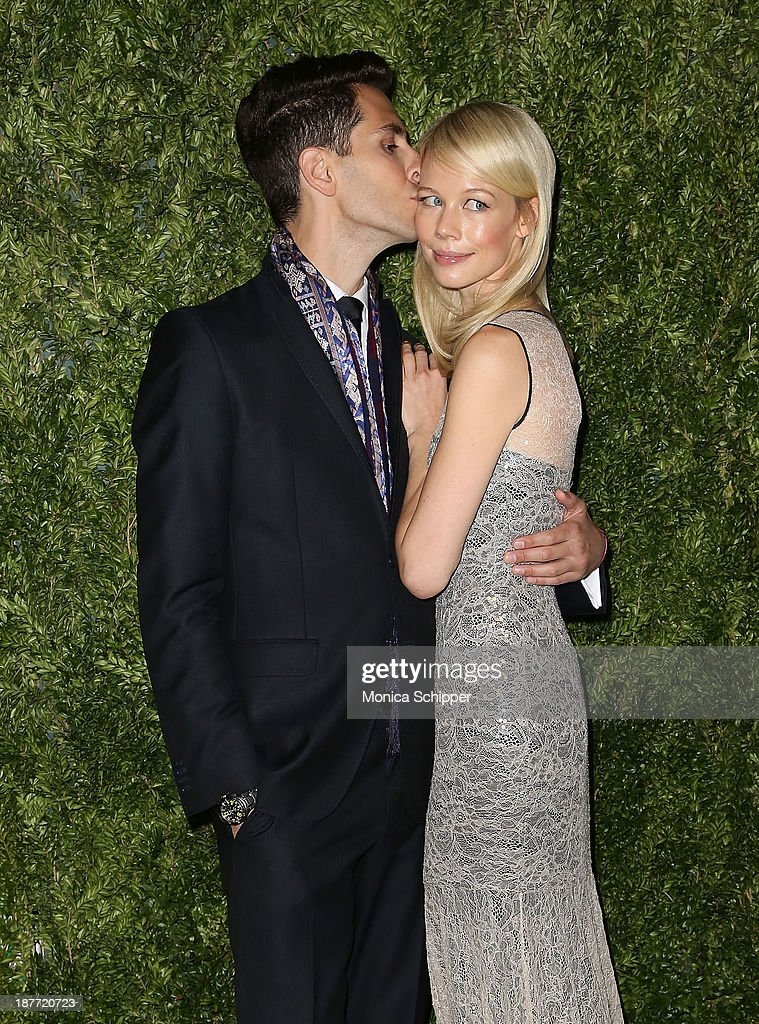 Singer <a gi-track='captionPersonalityLinkClicked' href=/galleries/search?phrase=Gabe+Saporta&family=editorial&specificpeople=4214209 ng-click='$event.stopPropagation()'>Gabe Saporta</a> and designer Erin Fetherston attend CFDA and Vogue 2013 Fashion Fund Finalists Celebration at Spring Studios on November 11, 2013 in New York City.