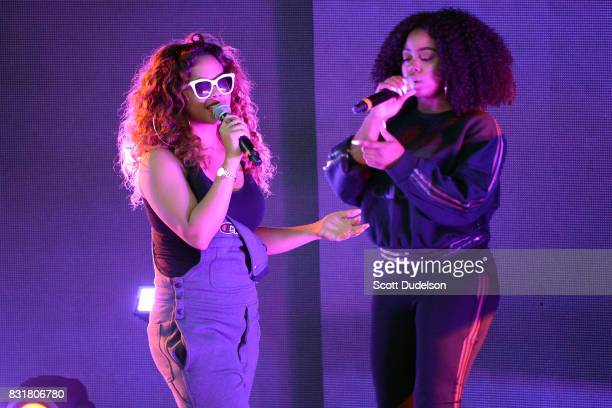 B singer Gabi Wilson of HER performs onstage at The Greek Theatre on August 14 2017 in Los Angeles California