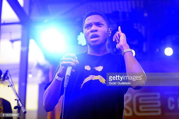 Singer Gallant performs onstage at the AXE Collective Crew Powered by SPIN SXSW party on March 17 2016 in Austin Texas