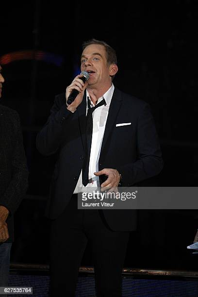 Singer Garou attends 30th Telethon at Hippodrome de Longchamp on December 3 2016 in Paris France