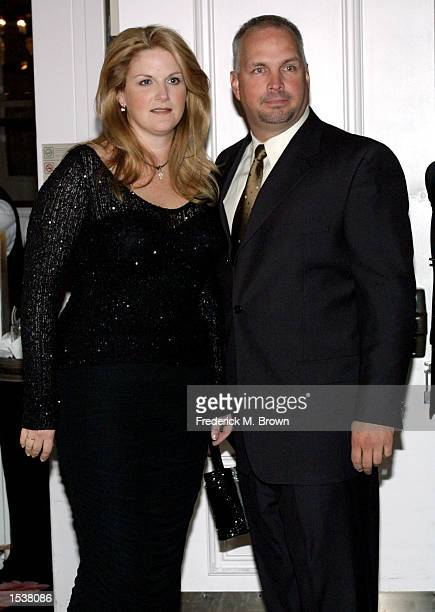 Singer Garth Brooks and Trisha Yearwood attend the Gala Event Honoring columnist Army Archerd's 50th year at Daily Variety April 26 2002 in Beverly...