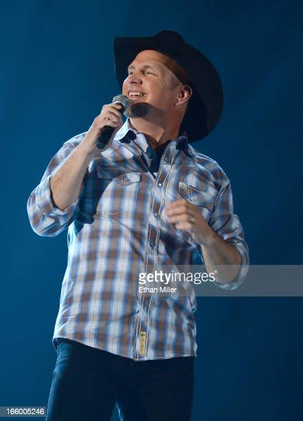 Singer Garth Brooks onstage during the 48th Annual Academy of Country Music Awards at the MGM Grand Garden Arena on April 7 2013 in Las Vegas Nevada
