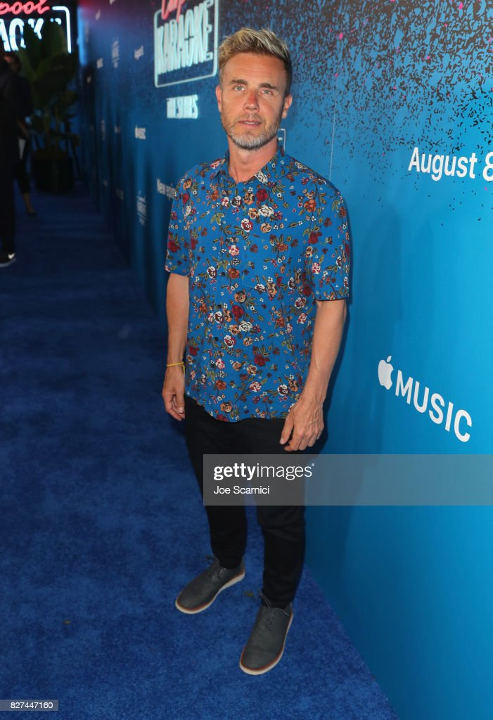 Singer Gary Barlow at Apple Music Launch Party Carpool Karaoke: The Series with James Corden on August 7, 2017 in West Hollywood, California.