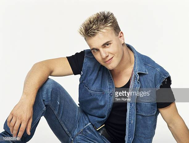 Singer Gary Barlow of English boy band Take That circa 1992