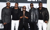 Singer Gary Jenkins and other members of Silk pose in the press room during the BET AWARDS '14 at Nokia Theatre LA LIVE on June 29 2014 in Los...