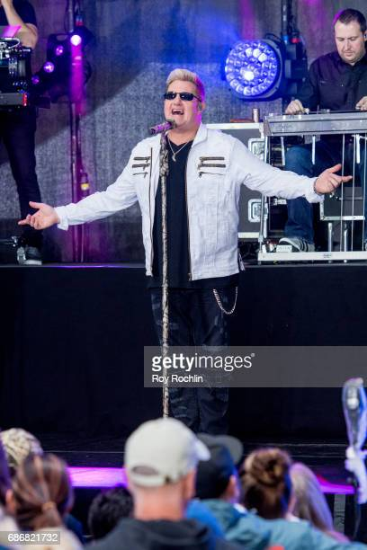 Singer Gary LeVox as Rascal Flatts perform on NBC's 'Today' at Rockefeller Plaza on May 22 2017 in New York City