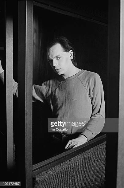 singer Gary Numan posed in RAK recording studios in North London in February 1981