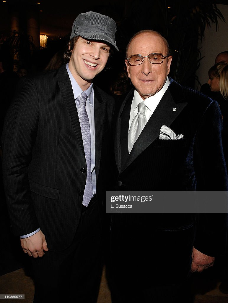 Singer Gavin DeGraw and Clive Davis, Chairman and CEO BMG US attends the 2008 Clive Davis Pre-GRAMMY party at the Beverly Hilton Hotel on February 9, 2008 in Los Angeles, California.