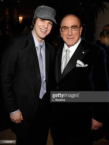 Singer Gavin DeGraw and Clive Davis Chairman and CEO BMG US attends the 2008 Clive Davis PreGRAMMY party at the Beverly Hilton Hotel on February 9...