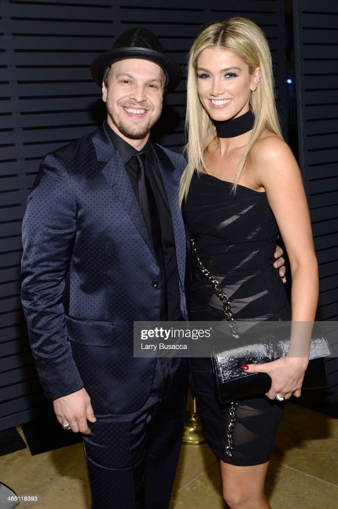Singer Gavin DeGraw and singer/actress Delta Goodrem attends the 56th annual GRAMMY Awards Pre-GRAMMY Gala and Salute to Industry Icons honoring Lucian Grainge at The Beverly Hilton on January 25, 2014 in Beverly Hills, California.