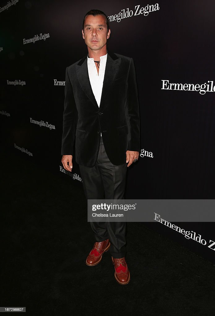 Singer <a gi-track='captionPersonalityLinkClicked' href=/galleries/search?phrase=Gavin+Rossdale&family=editorial&specificpeople=203016 ng-click='$event.stopPropagation()'>Gavin Rossdale</a> attends Ermenegildo Zegna Global Store Opening hosted by Gildo Zegna and Stefano Pilati at Ermenegildo Zegna Boutique on November 7, 2013 in Beverly Hills, California.