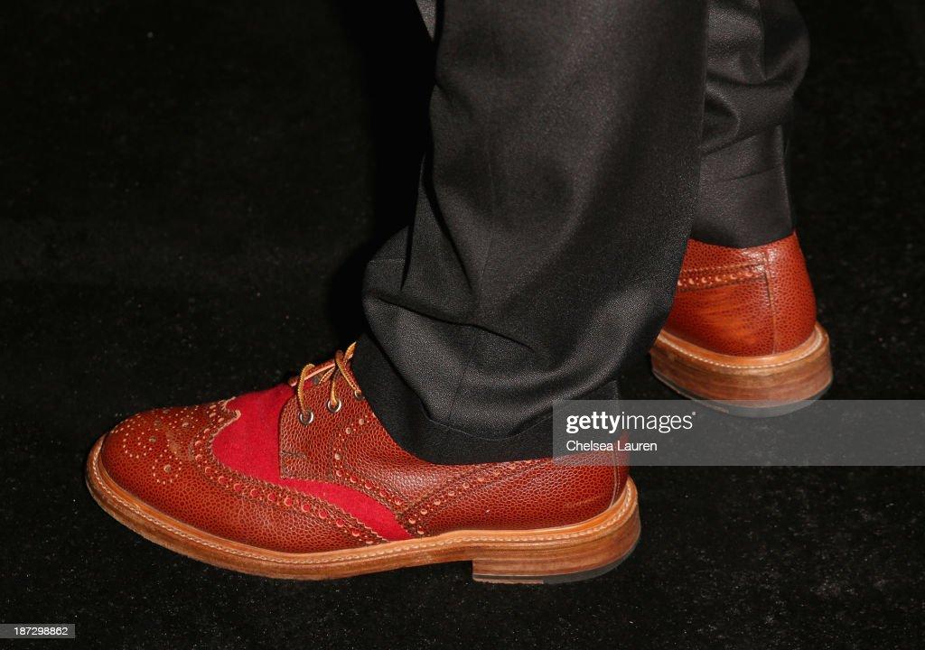 Singer Gavin Rossdale (shoe detail) attends Ermenegildo Zegna Global Store Opening hosted by Gildo Zegna and Stefano Pilati at Ermenegildo Zegna Boutique on November 7, 2013 in Beverly Hills, California.
