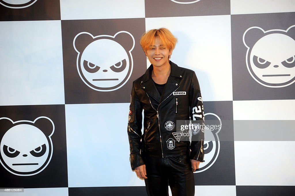 Singer GDragon of Bigbang attends HIPANDA promotional event at expo garden on August 31 2015 in Shanghai China