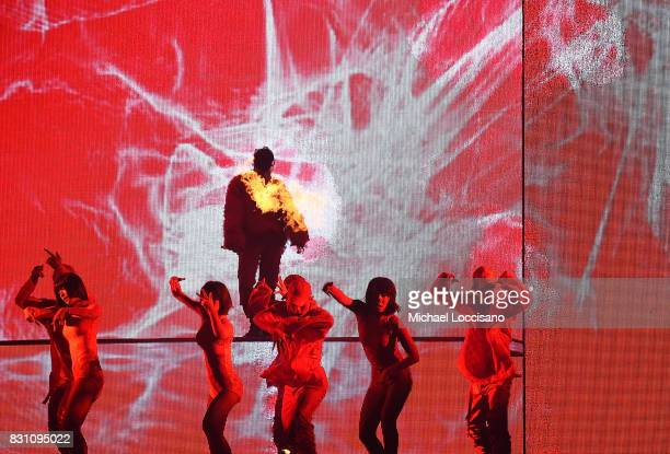 Singer GDragon performs at Barclays Center of Brooklyn on July 27 2017 in the Brooklyn borough of New York City