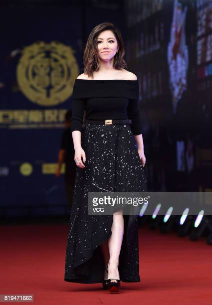 Singer GEM arrives at the red carpet of 2017 MTV Global Mandarin Music Awards on July 20 2017 in Shenzhen Guangdong Province of China