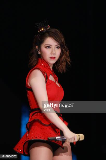 Singer GEM performs onstage during her 'Queen of Hearts' concert on September 17 2017 in Hong Kong China