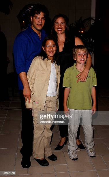 Singer George Bugatti poses with his wife Mary and his children Isabella and Ian at his 'A Night for Romance' CD release party at Jerne Restaurant...