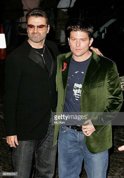 Singer George Michael and Kenny Goss arrive at the VIP preview screening of 'A Different Story' a documentary based on George Michael's life at the...