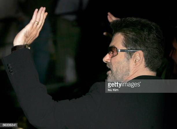 Singer George Michael arrives at the VIP preview screening of 'A Different Story' a documentary based on his life at the Curzon Mayfair on December 5...
