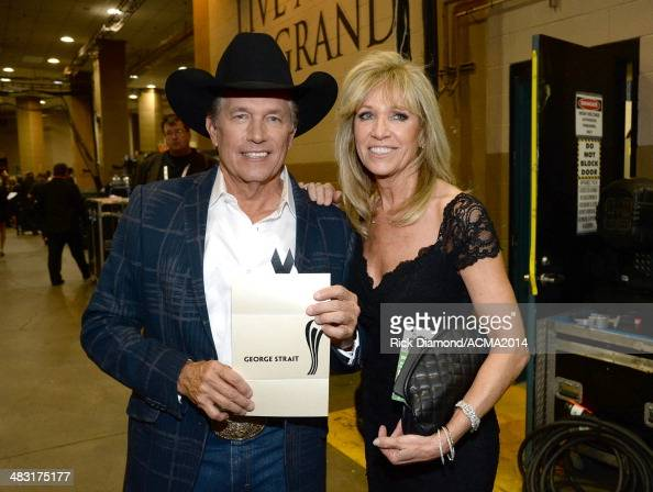 Singer George Strait and Norma Strait attend the 49th Annual Academy of Country Music Awards at the MGM Grand Garden Arena on April 6 2014 in Las...