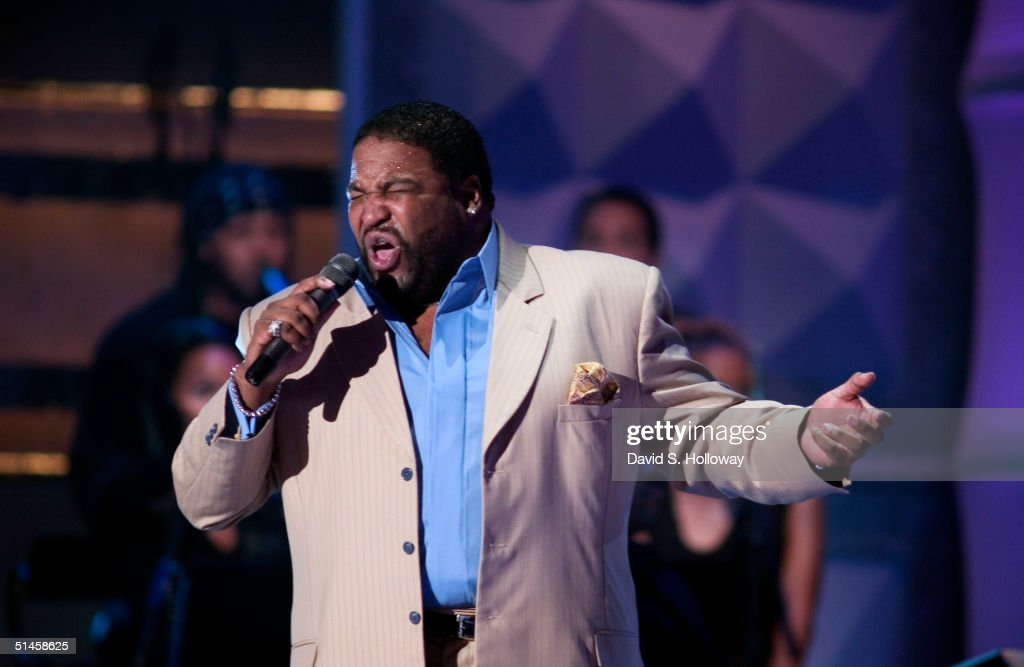 Singer Gerald Levert performs at Black Entertainment Television's 10th Anniversary Walk of Fame celebration honoring Smokey Robinson on October 9, 2004 in Washington, DC.