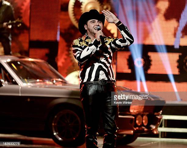 Singer Gerardo Ortiz performs at the Billboard Mexican Music Awards at the Dolby Theatre on October 9 2013 in Los Angeles California