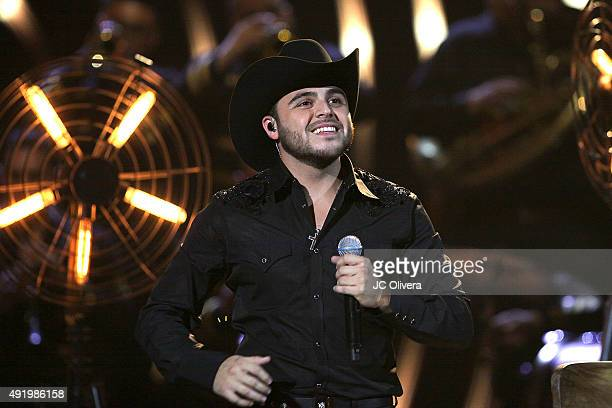 Singer Gerardo Ortiz performs on stage during Telemundo's Latin American Music Awards 2015 at Dolby Theatre on October 8 2015 in Hollywood California