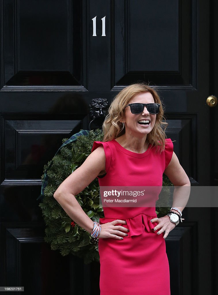 Singer Geri Halliwell arrives at Number 11 Downing Street on December 11, 2012 in London, England. Chancellor of the Exchequer George Osborne is hosting his yearly Christmas party for the Starlight charity.