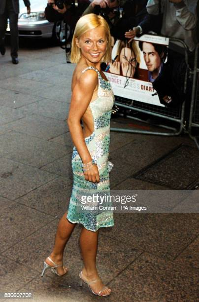 Singer Geri Halliwell arriving for the UK premiere of 'Bridget Jones Diary' at the Empire in London's Leicester Square