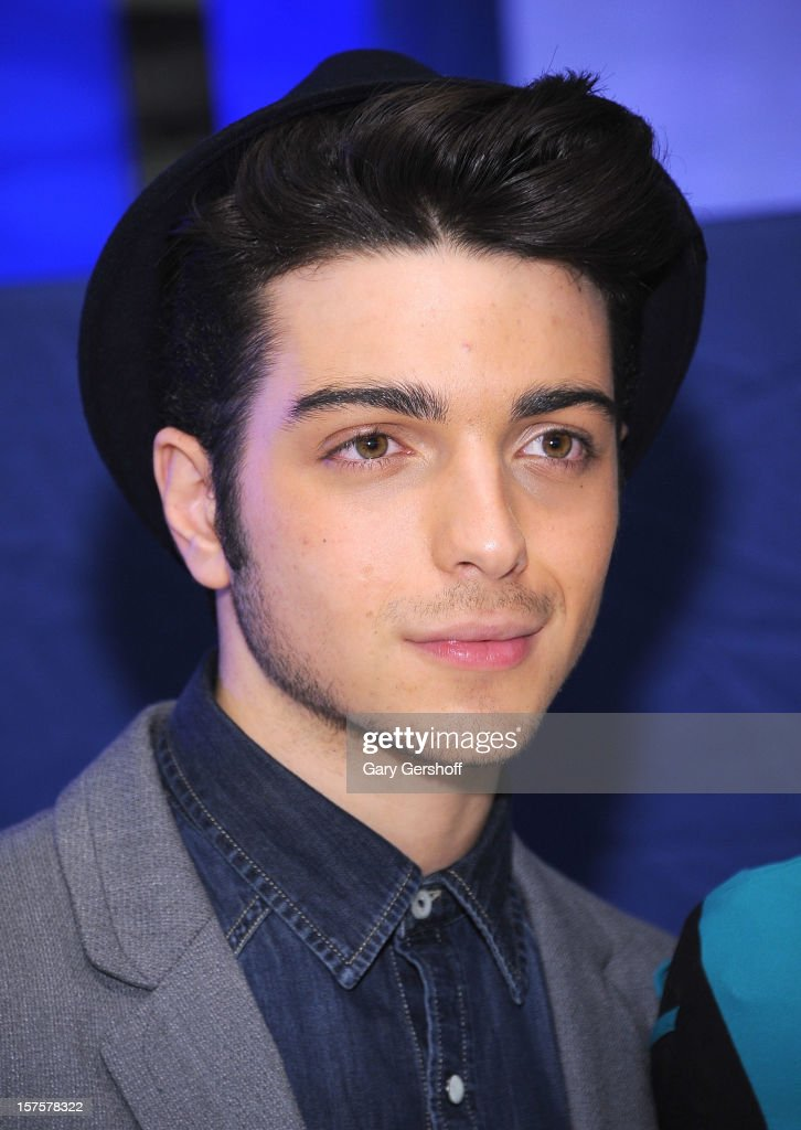 Singer Gianluca Ginoble of ll Volo seen at jetBlue Terminal 5 at JFK Airport on December 4, 2012 in New York City.